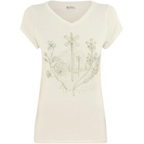 Fjällräven Emblem - Camiseta manga corta Mujer - blanco